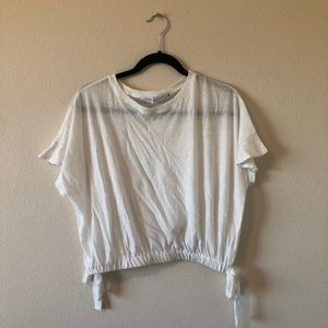 White T-Shirt Cropped Vintage